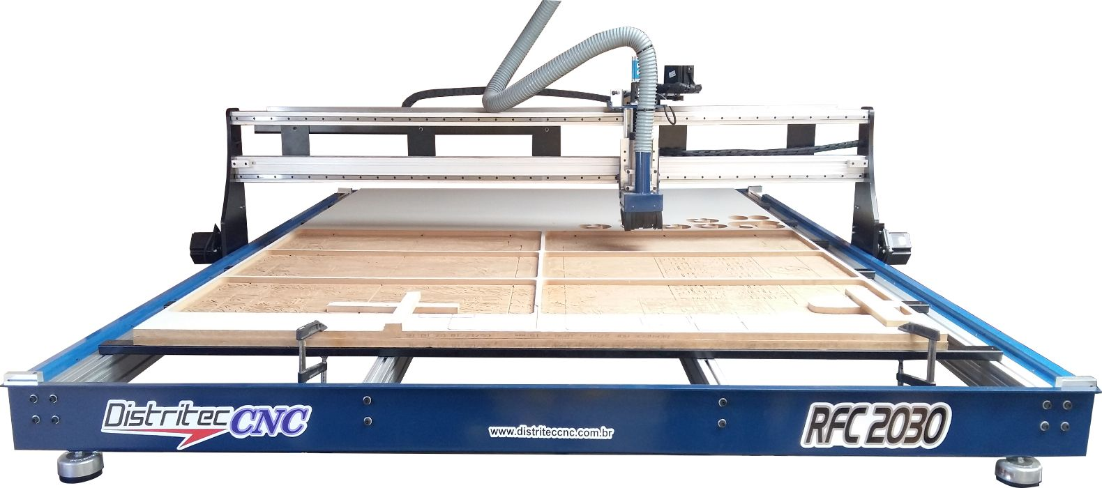 Router CNC RC2030 área útil de 2000x3000x100mm