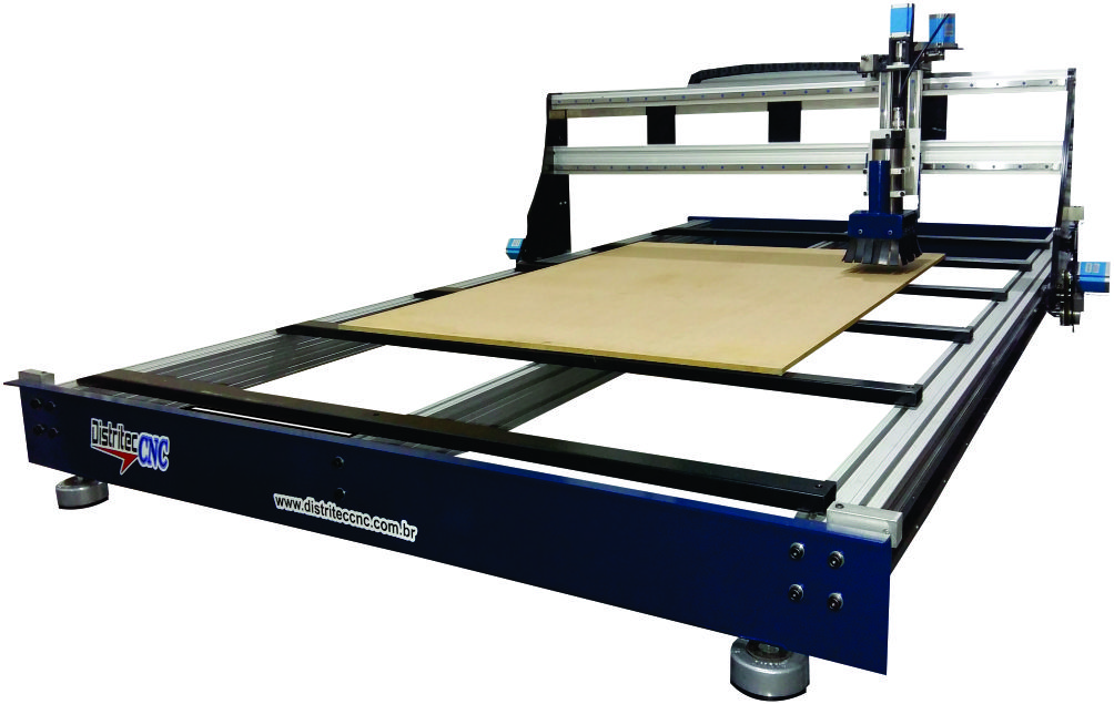 Router CNC RC1620  Área útil de 1600x2000x100mm